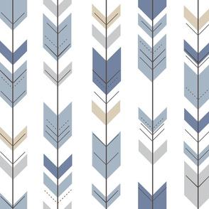 Fletching Arrows // Blue/Tan/Grey