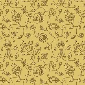 Scripty Florals Wheat