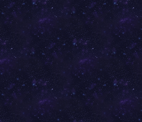 Dark Violet Starfield fabric by cellesria on Spoonflower - custom fabric