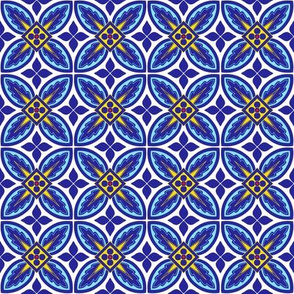 Blue Yellow White Tiles