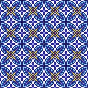 Blue Yellow White Tiles