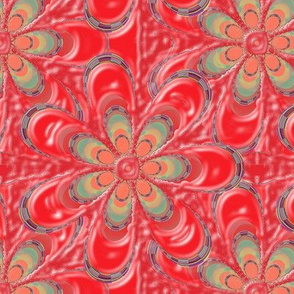 Psychedelic Red Flower