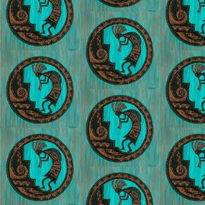 Turquoise Kokopelli