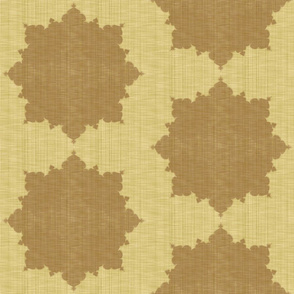 Starburst ~ Mahogany on Trianon Cream Linen Luxe
