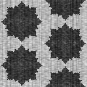 Starburst ~ Black and White Linen Luxe