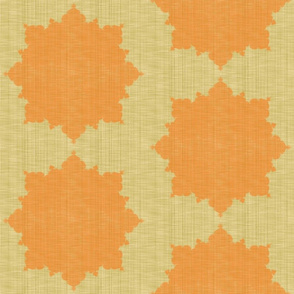 Starburst ~ Pumpkin on Trianon Cream Linen Luxe