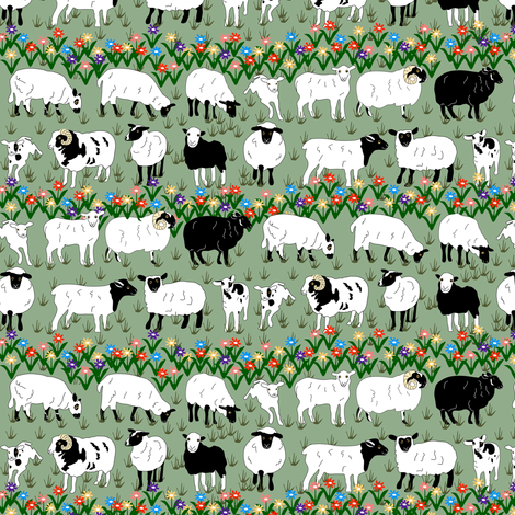 Sheep Stripe fabric by eclectic_house on Spoonflower - custom fabric