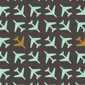 Mint Airplanes in the Gray