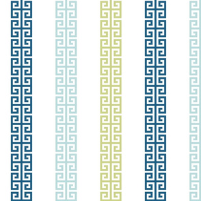 greek_key_stripe_ Blue greens