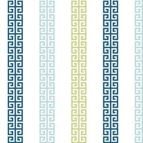 greek_key_stripe_ Blue greens
