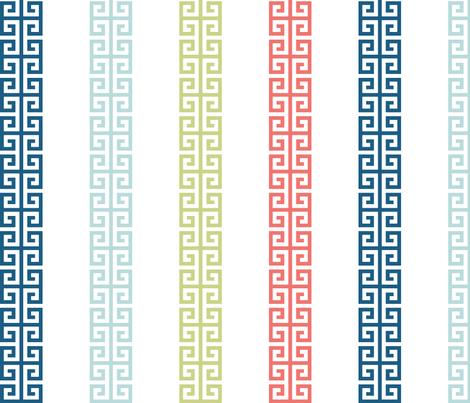 greek_key_stripe_multi fabric by danikaherrick on Spoonflower - custom fabric
