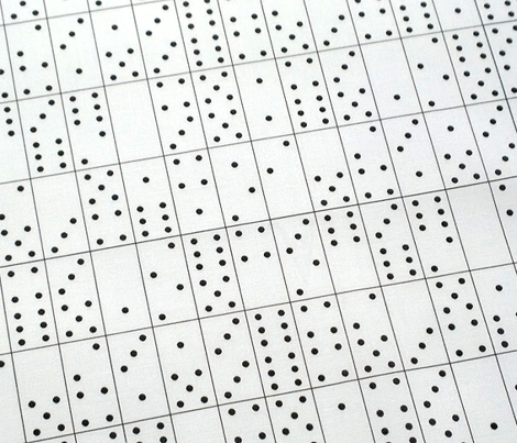 Domino Universe (Black on White) || dominoes game geometric polka dots low volume