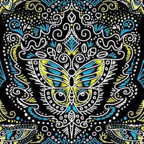 chalkboard filigree butterflies