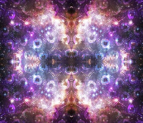 Peacock nebula fabric beesocks spoonflower for Nebula material