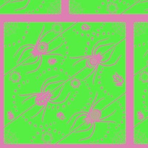 Florid Neon Spiders