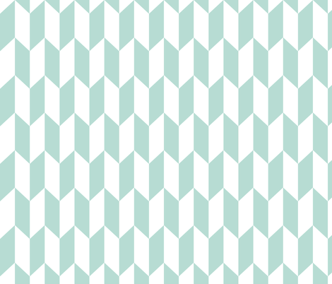 Chevron Darts Mint fabric by studio_amelie on Spoonflower - custom fabric