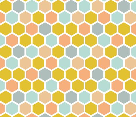 Honeycomb Multi fabric by studio_amelie on Spoonflower - custom fabric