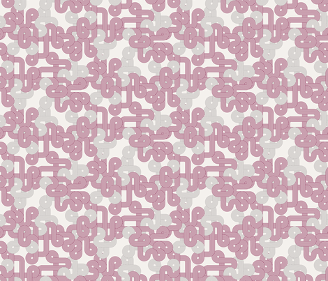 Geometric Twist in berry fabric by kipandfig on Spoonflower - custom fabric