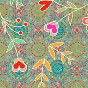 Wildflowers bohemian style