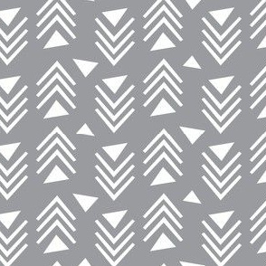 Chevrons & Triangles - Grey
