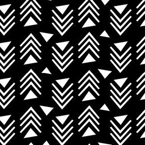 Chevrons & Triangles - Black