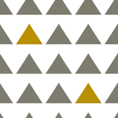 Gray and Gold Triangles White background