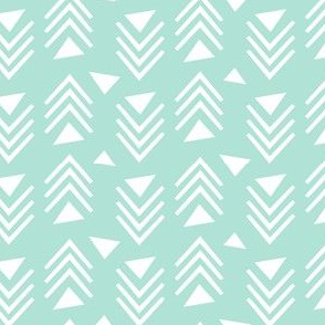Chevrons & Triangles - Mint