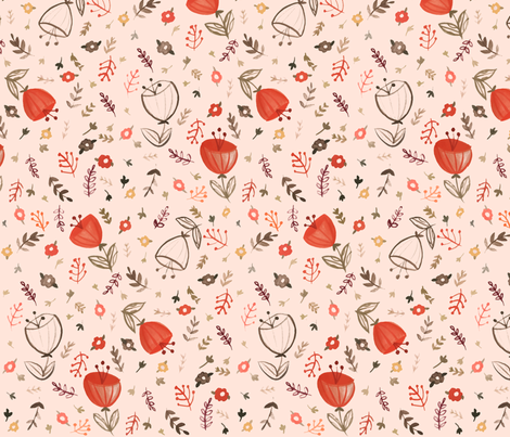 Floral Daydream fabric by ginamayes on Spoonflower - custom fabric