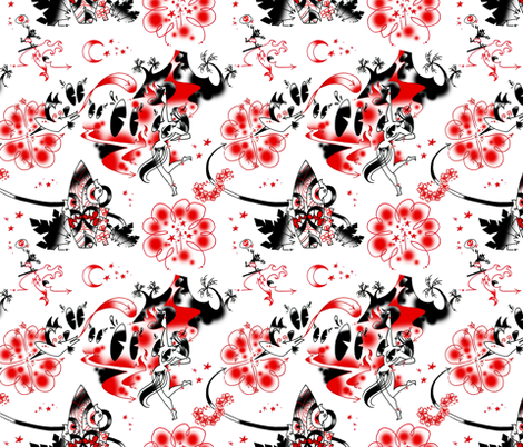 hulaaTILE_by_DANG fabric by mrdang on Spoonflower - custom fabric