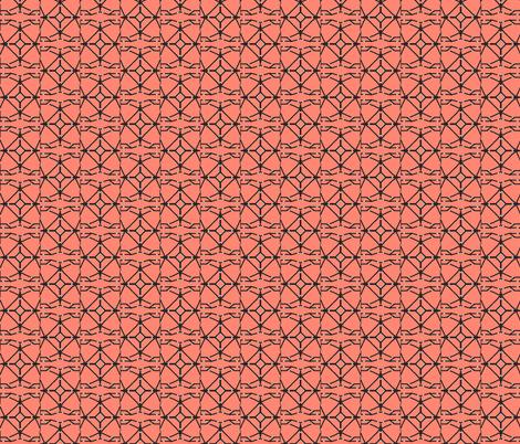 Trellis in Coral fabric by inniv8z_oz on Spoonflower - custom fabric
