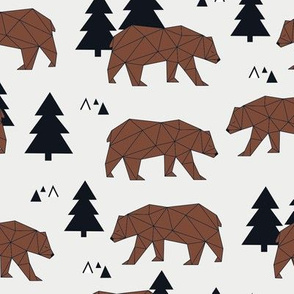 Geometric Grizzly Bear