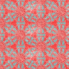 Geometric Red and Grey vintage