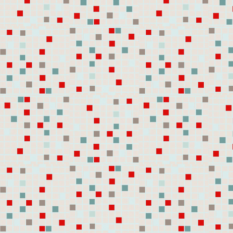 Tiny mosaic tiles fabric by susiprint on Spoonflower - custom fabric