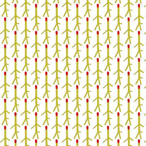 Matchmen on white fabric by susiprint on Spoonflower - custom fabric