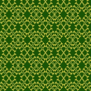 Eyelet Crochet Lace Yellow Green