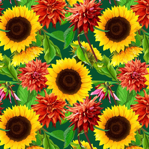 seamless_pattern_of_sunflowers_with__dahlias