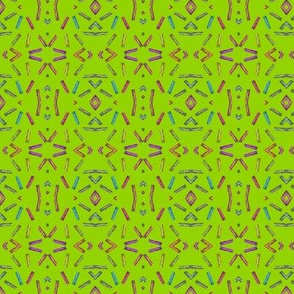 AZTEC STYLE CLOTHESPINS LIME GREEN