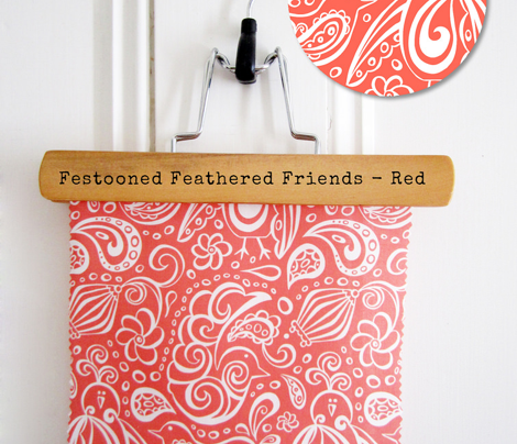 Festooned Feathered Friends Red