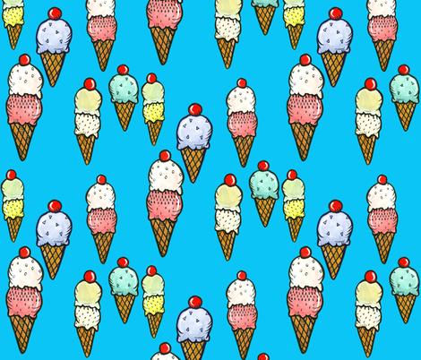 Ice Cream Party! fabric by taraput on Spoonflower - custom fabric
