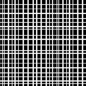 Uneven Grid--Black and White