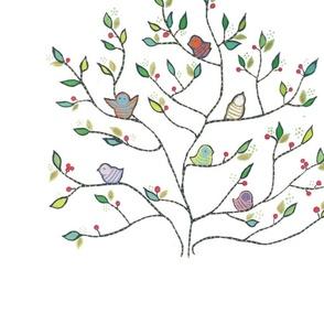 bird white tree