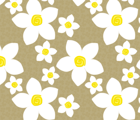 Happy Flowers Applique Sand fabric by bags29 on Spoonflower - custom fabric