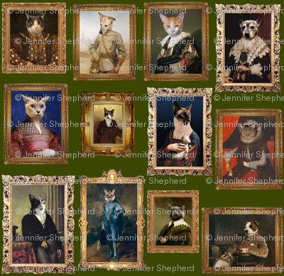 Pet Portrait Gallery - Large - Moss