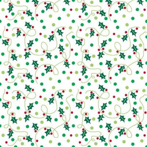 Holly leaves and dots