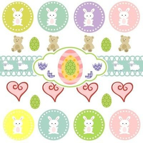 Bunnies &Teddy Hearts - Easter
