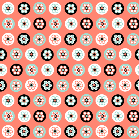 Beads on pink fabric by squeakyangel on Spoonflower - custom fabric