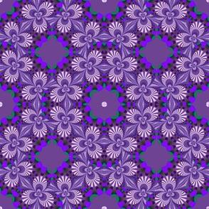 Shades of Lavender Fractal Trefoils