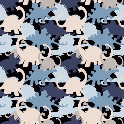 Small Dinosaurs Camo Design fabric by lauriekentdesigns on Spoonflower - custom fabric