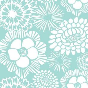 Festibloom - Modern Floral Aqua