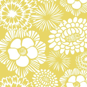 Festibloom - Modern Floral Citron Yellow
